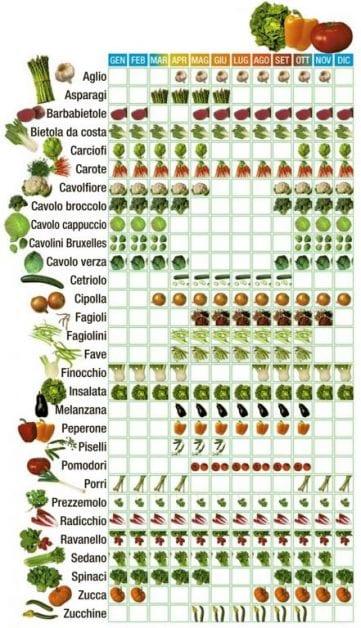 calendario-verdura -Stagione