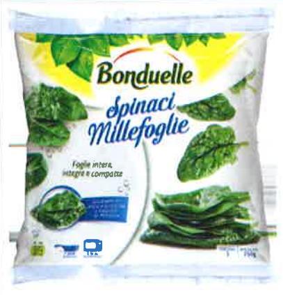 Bonduelle richiama spinaci surgelati per possibile presenza di mandragora