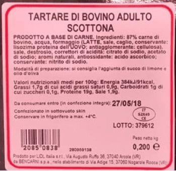 tartare-bovino-scottona-lidl-etichetta-richiamo